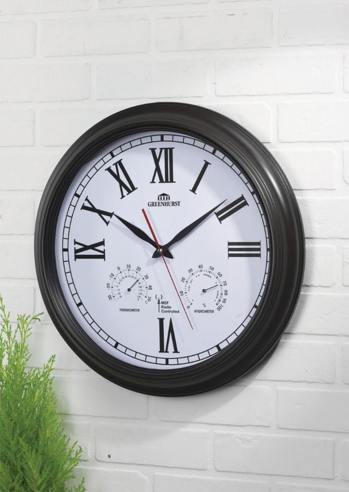 Wall Clock Garden Clock Outside Clock Weather Station